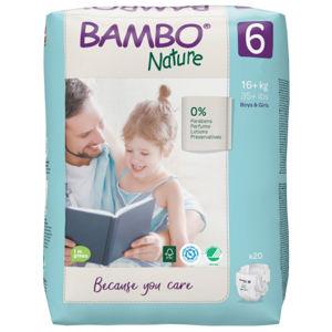 Bambo nature 6 detské prírodné plienky 16-30 kg 20 ks