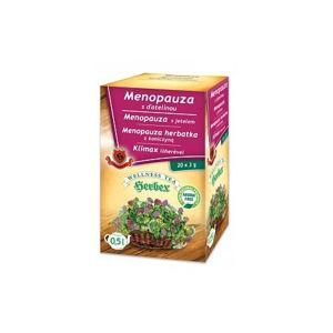 HERBEX MENOPAUZA s ďatelinou bylinná zmes wellness tea 20 x 3 g