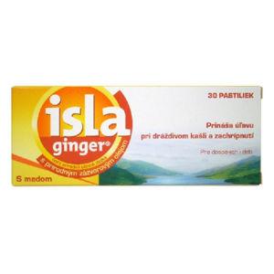 Isla Ginger pastilky so zázvorovým olejom s medom 30 ks