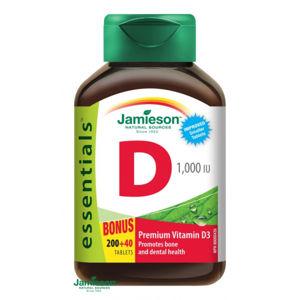 Jamieson Vitamín D3 1000 IU 200 + 40 tbl ZDARMA