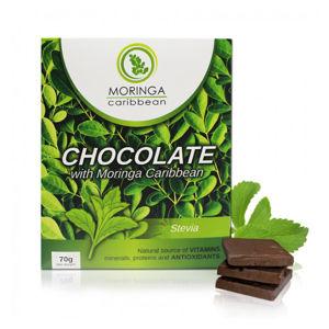 Moringa Caribbean Horká čokoláda bez cukru so stéviou 70 g