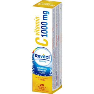 Revital vitamín C 1000 mg 20 šumivých tabliet citrón