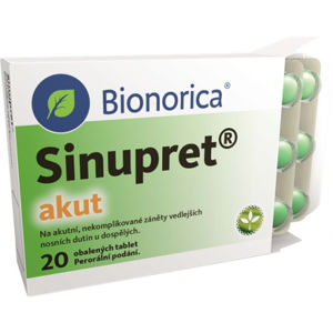 Sinupret akut 20 tabliet
