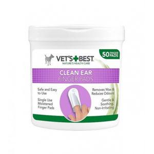 VET´S BEST CLEAN EAR FINGER PADS náprstok na uši pre psy 50 ks